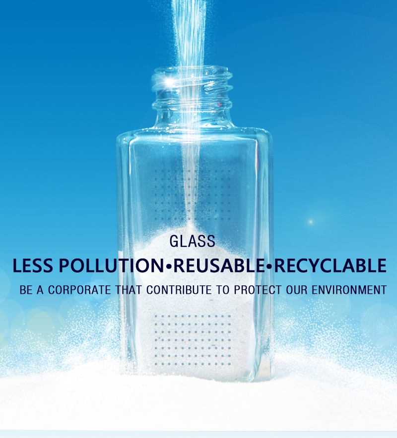 Glass creates less toxic emissions and it's reusable and recyclable